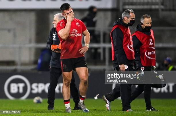 Belfast , United Kingdom - 11 December 2020; James Hume of Ulster dejected following the Heineken Champions Cup Pool B Round 1 match between Ulster...