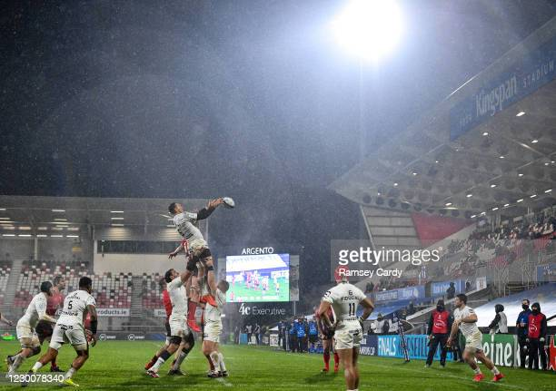 Belfast , United Kingdom - 11 December 2020; Rynhardt Elstadt of Toulouse wins possession in the lineout during the Heineken Champions Cup Pool B...