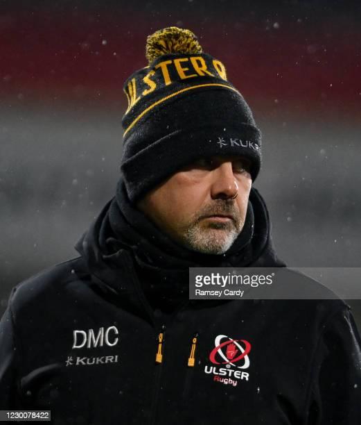 Belfast , United Kingdom - 11 December 2020; Ulster head coach Dan McFarland ahead of the Heineken Champions Cup Pool B Round 1 match between Ulster...