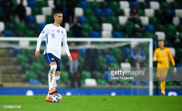 Belfast , United Kingdom - 12 November 2020; Lubomír atka of Slovakia during the UEFA EURO2020 Qualifying Play-Off Final match between Northern...