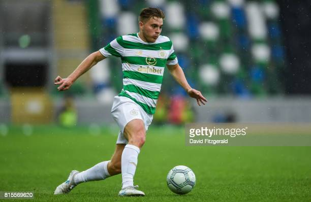 Belfast United Kingdom 14 July 2017 James Forrest of Celtic during the UEFA Champions League Second Qualifying Round First Leg match between Linfield...