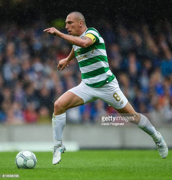 Belfast United Kingdom 14 July 2017 Scott Brown of Celtic during the UEFA Champions League Second Qualifying Round First Leg match between Linfield...