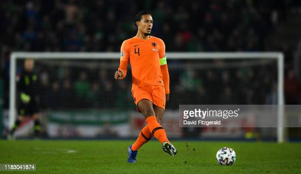 Belfast United Kingdom 16 November 2019 Virgil van Dijk of Netherlands during the UEFA EURO2020 Qualifier Group C match between Northern Ireland and...