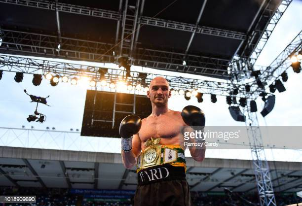 Belfast United Kingdom 18 August 2018 Steven Ward after defeating Steve Collins Jr during their cruiserweight bout at Windsor Park in Belfast