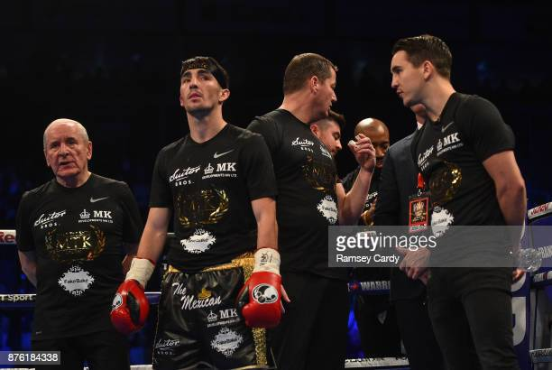 Belfast United Kingdom 18 November 2017 Jamie Conlan ahead of his IBF World super flyweight Title bout against Jerwin Ancajas at the SSE Arena in...