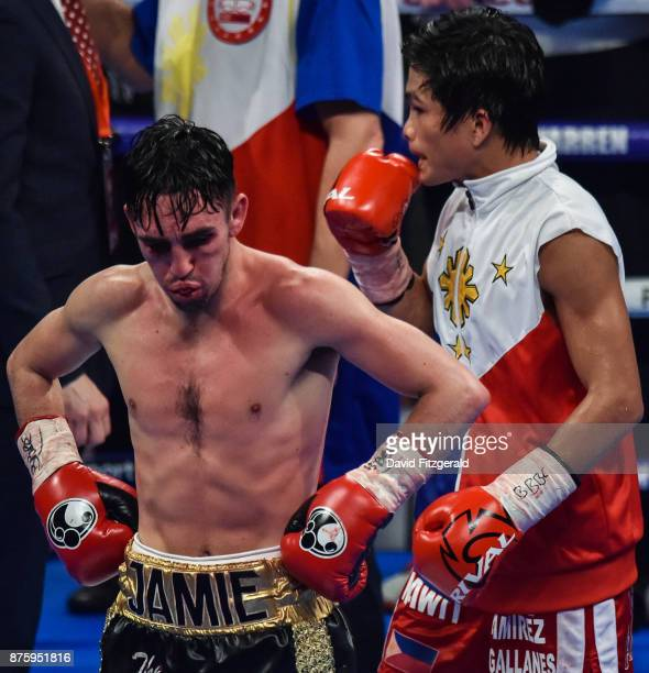 Belfast United Kingdom 18 November 2017 Jamie Conlan following his defeat to Jerwin Ancajas after their IBF World super flyweight Title bout at the...