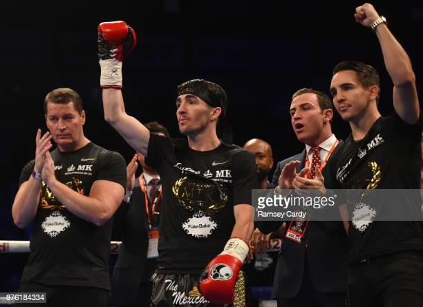 Belfast United Kingdom 18 November 2017 Jamie Conlan with brother Michael ahead of his IBF World super flyweight Title bout against Jerwin Ancajas at...