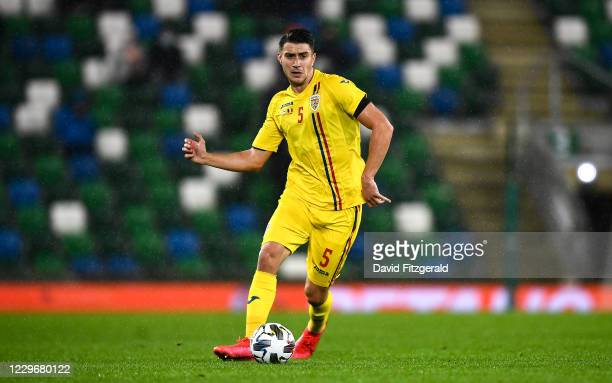 Belfast , United Kingdom - 18 November 2020; Ionu Nedelcearu of Romania during the UEFA Nations League B match between Northern Ireland and Romania...