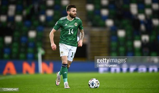 Belfast , United Kingdom - 18 November 2020; Stuart Dallas of Northern Ireland during the UEFA Nations League B match between Northern Ireland and...