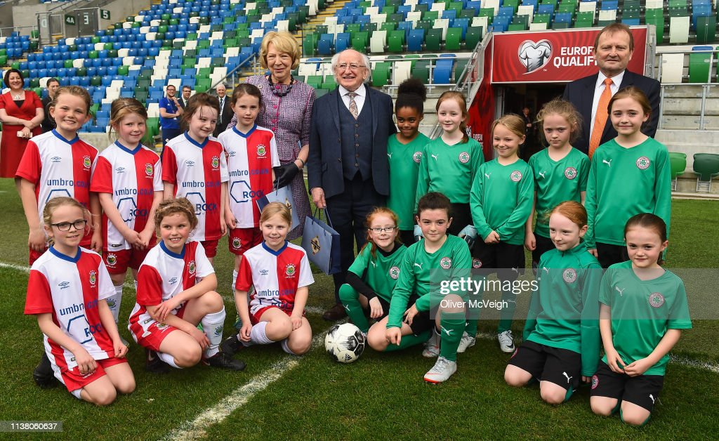 GBR: Visit of Irish President Michael D Higgins to the Irish Football Association