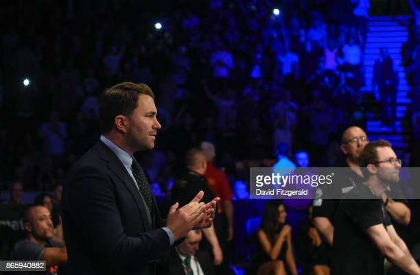 Belfast United Kingdom 21 October 2017 Matchroom boxing promoter Eddie Hearn at the Boxing at the SSE Arena in Belfast