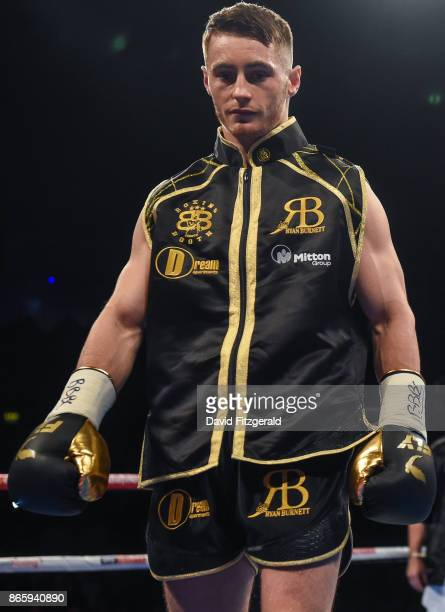 Belfast United Kingdom 21 October 2017 Ryan Burnett ahead of his IBF WBA Super World Bantamweight Championship bout against Zhanat Zhakyanov at the...