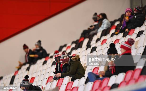 Belfast , United Kingdom - 22 November 2020; Ulster supporters prior to the Guinness PRO14 match between Ulster and Scarlets at Kingspan Stadium in...