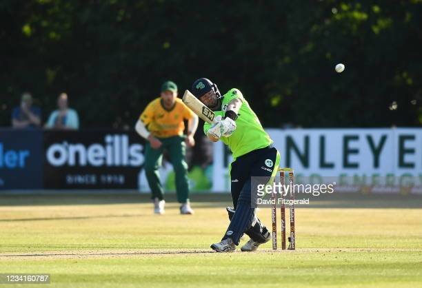 Belfast , United Kingdom - 24 July 2021; Barry McCarthy of Ireland during the Men's T20 International match between Ireland and South Africa at...