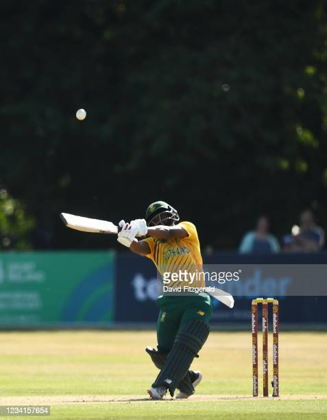 Belfast , United Kingdom - 24 July 2021; Temba Bavuma of South Africa during the Men's T20 International match between Ireland and South Africa at...