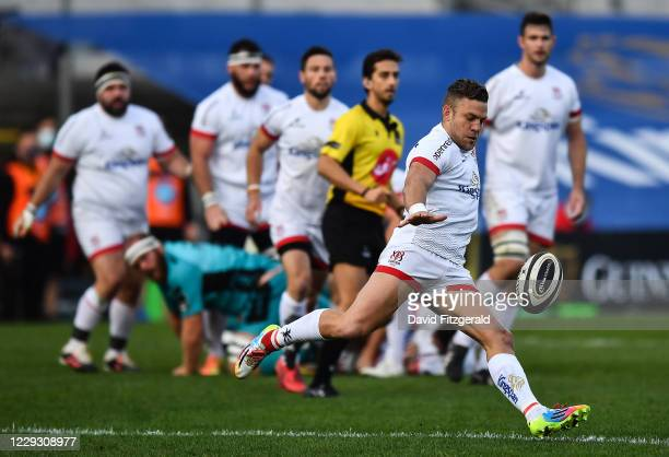 Belfast , United Kingdom - 25 October 2020; Ian Madigan of Ulster during the Guinness PRO14 match between Ulster and Dragons at Kingspan Stadium in...