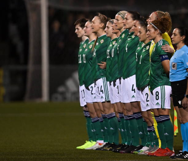 GBR: Northern Ireland v Austria: Group D - FIFA Women's WorldCup 2023 Qualifier