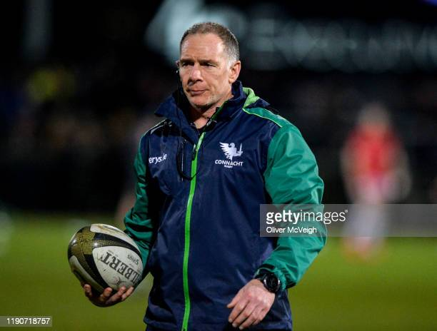 Belfast United Kingdom 27 December 2019 Connacht Head Coach Andy Friend before the Guinness PRO14 Round 9 match between Ulster and Connacht at...