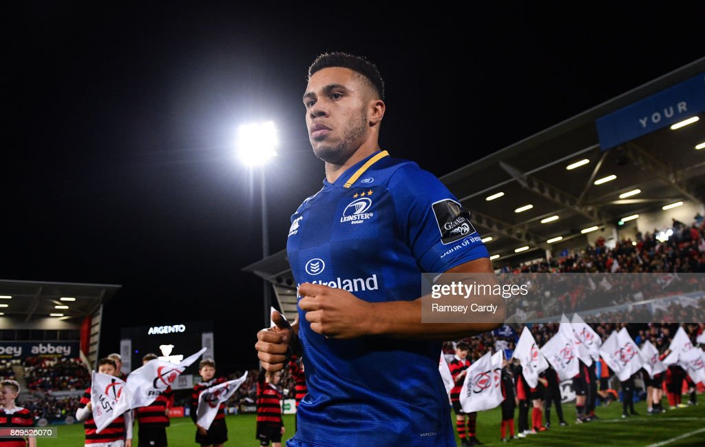 Belfast , United Kingdom - 28 October 2017; Adam Byrne of Leinster ahead of the Guinness PRO14 Round 7 match between Ulster and Leinster at Kingspan Stadium in Belfast.