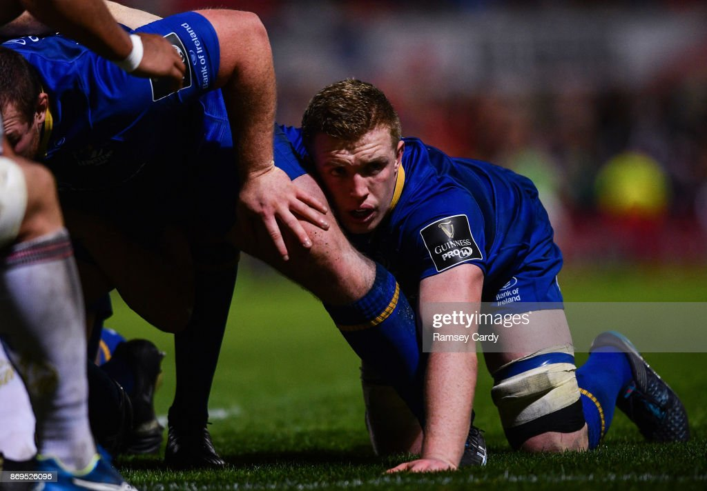 Belfast , United Kingdom - 28 October 2017; Dan Leavy of Leinster during the Guinness PRO14 Round 7 match between Ulster and Leinster at Kingspan Stadium in Belfast.