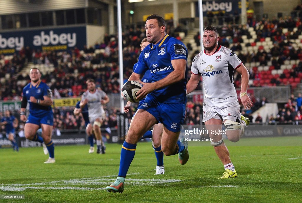 Belfast , United Kingdom - 28 October 2017; Dave Kearney of Leinster during the Guinness PRO14 Round 7 match between Ulster and Leinster at Kingspan Stadium in Belfast.