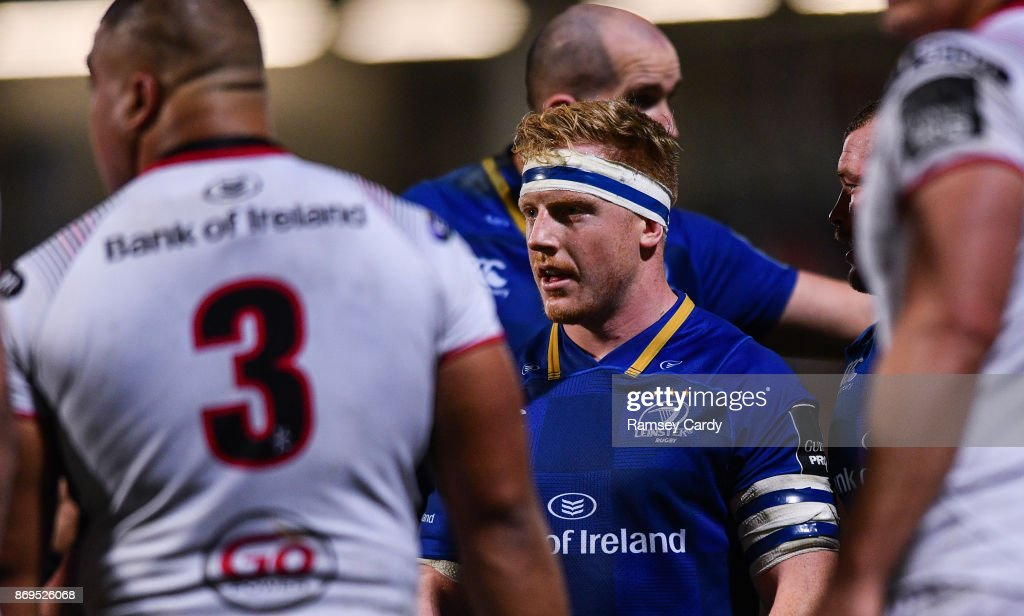 Belfast , United Kingdom - 28 October 2017; James Tracy of Leinster during the Guinness PRO14 Round 7 match between Ulster and Leinster at Kingspan Stadium in Belfast.