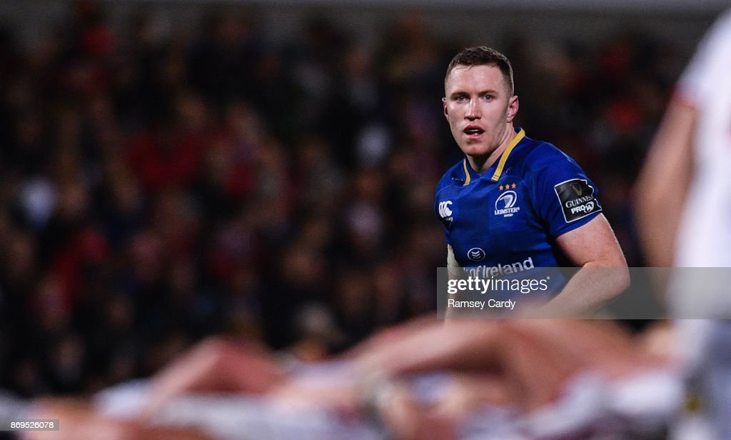 Belfast , United Kingdom - 28 October 2017; Rory O'Loughlin of Leinster during the Guinness PRO14 Round 7 match between Ulster and Leinster at Kingspan Stadium in Belfast.