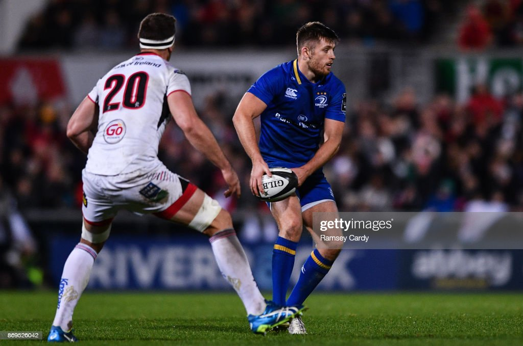 Belfast , United Kingdom - 28 October 2017; Ross Byrne of Leinster during the Guinness PRO14 Round 7 match between Ulster and Leinster at Kingspan Stadium in Belfast.