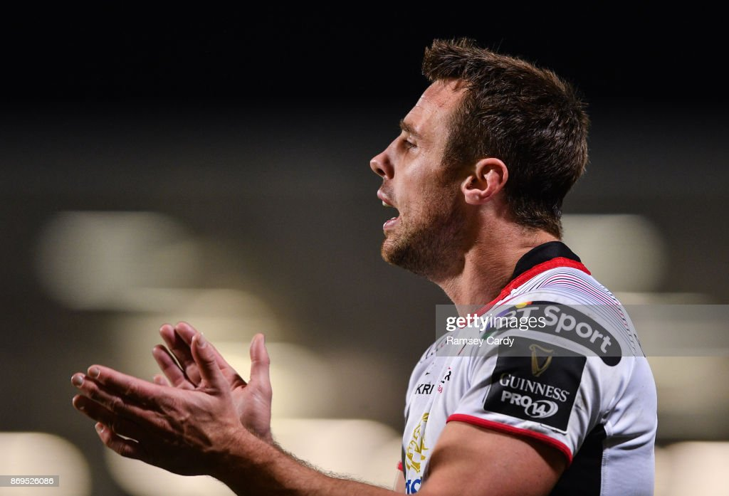 Belfast , United Kingdom - 28 October 2017; Tommy Bowe of Ulster during the Guinness PRO14 Round 7 match between Ulster and Leinster at Kingspan Stadium in Belfast.