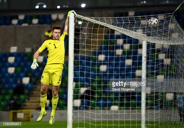 Belfast , United Kingdom - 31 March 2021; Bailey Peacock-Farrell of Northern Ireland during the FIFA World Cup 2022 qualifying group C match between...