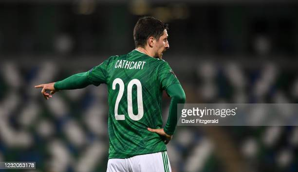 Belfast , United Kingdom - 31 March 2021; Craig Cathcart of Northern Ireland during the FIFA World Cup 2022 qualifying group C match between Northern...