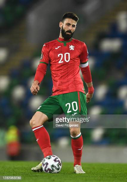 Belfast , United Kingdom - 31 March 2021; Dimitar Iliev of Bulgaria during the FIFA World Cup 2022 qualifying group C match between Northern Ireland...