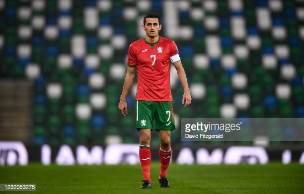 Belfast , United Kingdom - 31 March 2021; Georgi Kostadinov of Bulgaria during the FIFA World Cup 2022 qualifying group C match between Northern...
