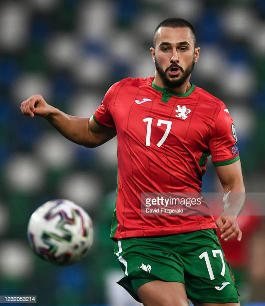 Belfast , United Kingdom - 31 March 2021; Georgi Yomov of Bulgaria during the FIFA World Cup 2022 qualifying group C match between Northern Ireland...