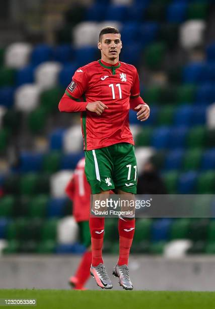 Belfast , United Kingdom - 31 March 2021; Kiril Despodov of Bulgaria during the FIFA World Cup 2022 qualifying group C match between Northern Ireland...