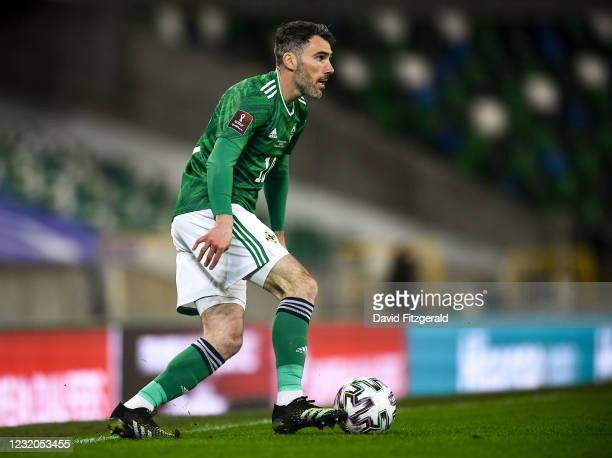 Belfast , United Kingdom - 31 March 2021; Michael Smith of Northern Ireland during the FIFA World Cup 2022 qualifying group C match between Northern...