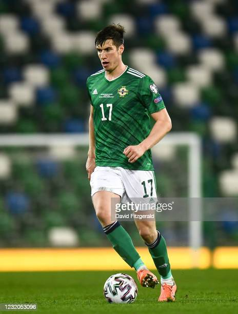 Belfast , United Kingdom - 31 March 2021; Paddy McNair of Northern Ireland during the FIFA World Cup 2022 qualifying group C match between Northern...