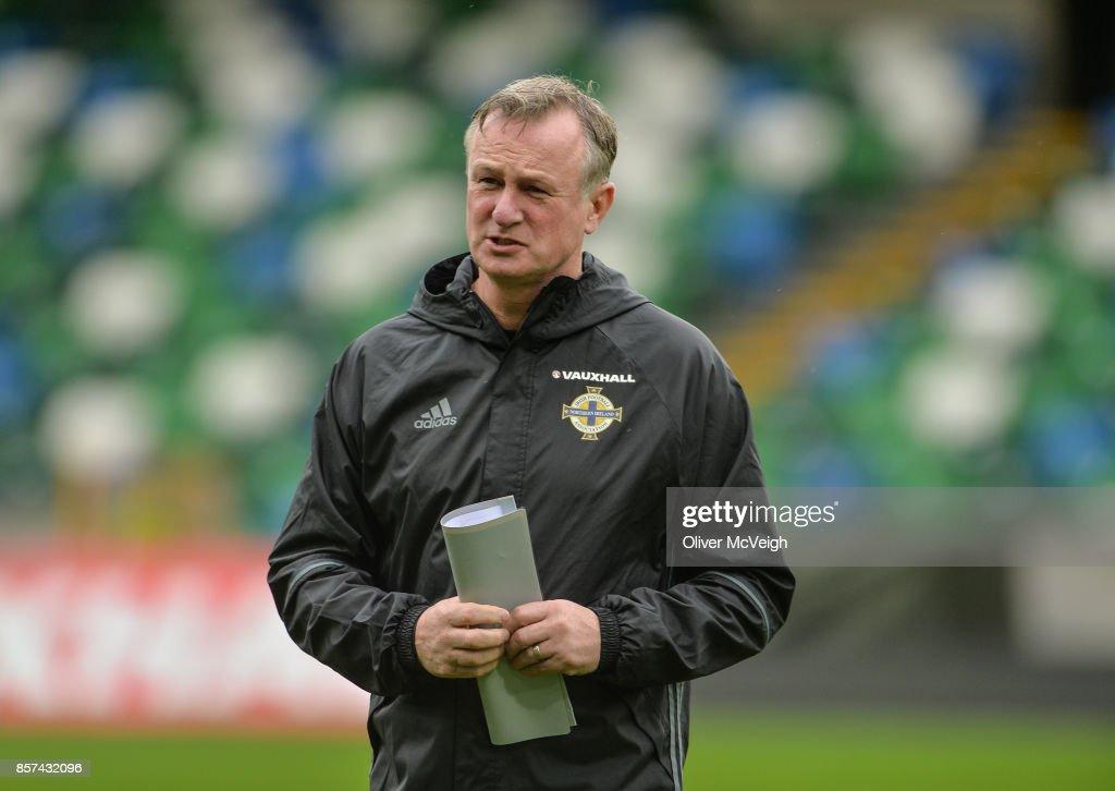 Northern Ireland Squad Training : News Photo
