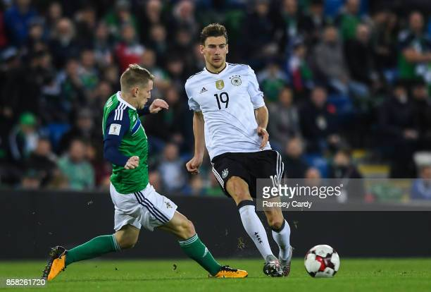 Belfast United Kingdom 5 October 2017 Leon Goretzka of Germany in action against Steven Davis of Northern Ireland during the FIFA World Cup Qualifier...