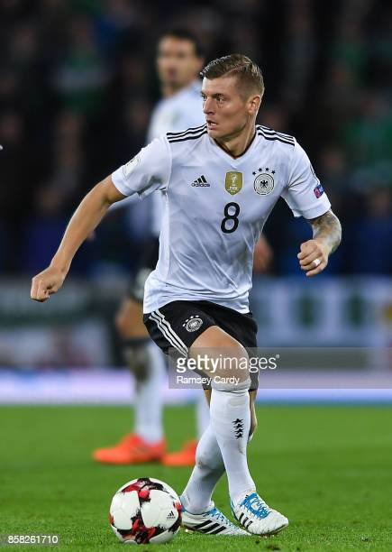 Belfast United Kingdom 5 October 2017 Toni Kroos of Germany during the FIFA World Cup Qualifier Group C match between Northern Ireland and Germany at...