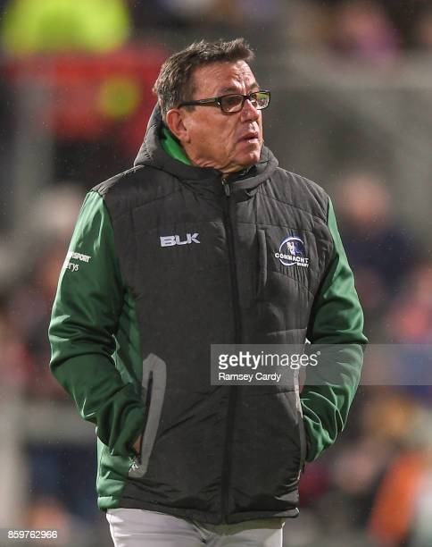 Belfast United Kingdom 6 October 2017 Connacht head coach Kieran Keane during the Guinness PRO14 Round 6 match between Ulster and Connacht at the...