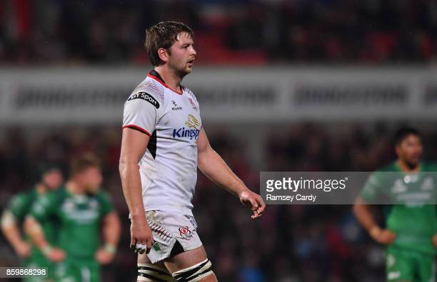 Belfast United Kingdom 6 October 2017 Iain Henderson of Ulster during the Guinness PRO14 Round 6 match between Ulster and Connacht at the Kingspan...