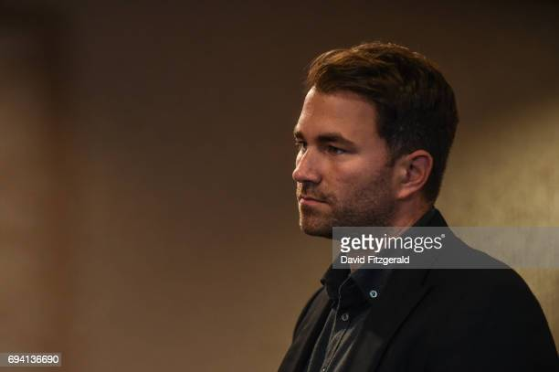 Belfast United Kingdom 9 June 2017 Matchroom Boxing promoter Eddie Hearn at the weigh ins ahead of the Boxing in Belfast event in the Hilton Hotel...