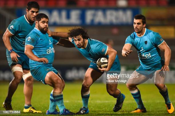 Belfast United Kingdom 9 November 2018 Manuel Ardao of Uruguay in action during the International Rugby match between Ulster and Uruguay at Kingspan...