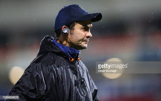 Belfast United Kingdom 9 November 2018 Uruguay Head Coach Esteban Meneses during the International Rugby match between Ulster and Uruguay at Kingspan...