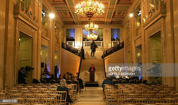 Last minute preperations are made in Stormont Parliament Buildings in Belfast Northern Ireland 02 December 2005 ahead of George Best's Funeral on the...