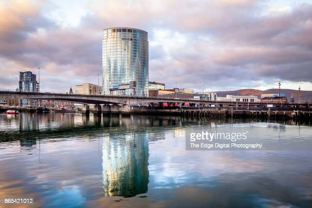 belfast waterfront - belfast stock pictures, royalty-free photos & images