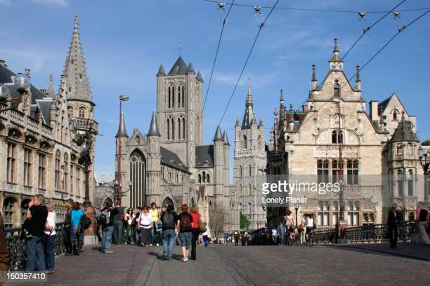 Belfort and St Baafskathedraal from St Michielsbrug.