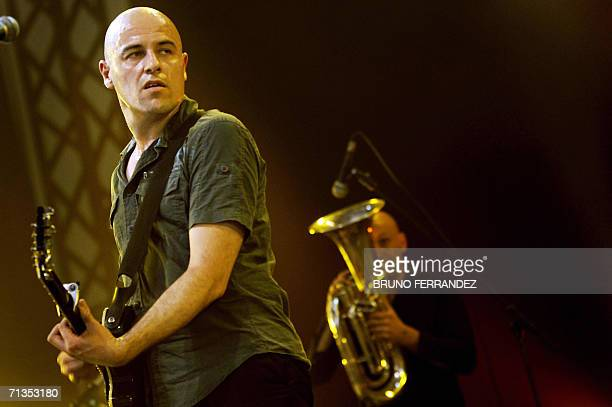 French singer Dominique A performs on stage during the 18th edition of the Eurockeennes music festival, 02 July 2006 in Belfort, eastern France. AFP...