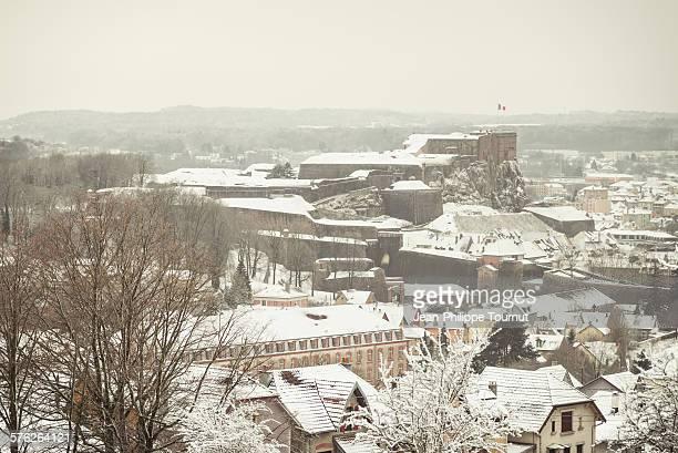 Belfort under snow, France